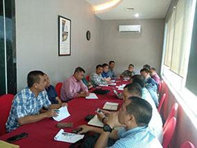 Dekan Unhan Bersama Sesprodi Gelar Rapat Evaluasi KKDN FSP Di Swisbell Hotel Kendari